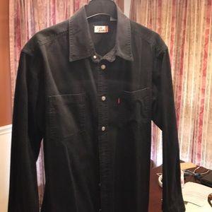 Black casual Levi's jeans shirt
